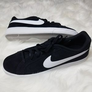 HP Nike Court Royale Suede Black White Contrast